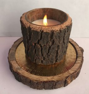 Wood Candle Set